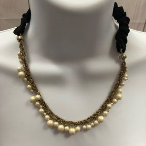 Beaded gold stretchy necklace and/or headband